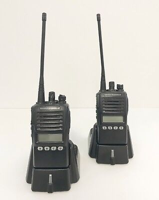 Vertex Standard Vx-354 Uhf Portable 2-way Radios Wwhip - Pair