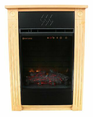 Heat Surge Power Tower Electric Fireplace