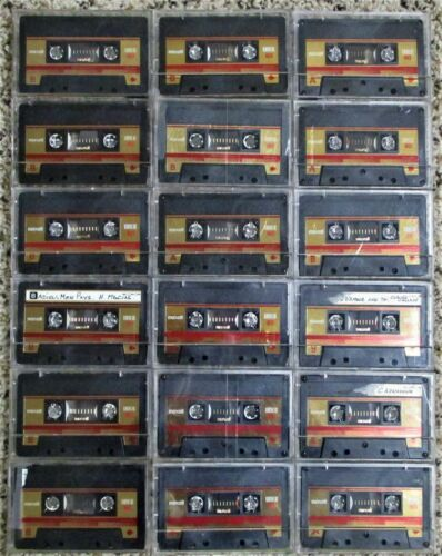 Eighteen (18) Maxell UDS-II 60 High Position (CrO2) Audio Cassettes