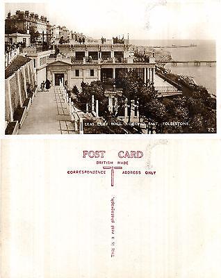 1920's LEAS CLIFF HALL FOLKESTONE KENT UNUSED RP POSTCARD