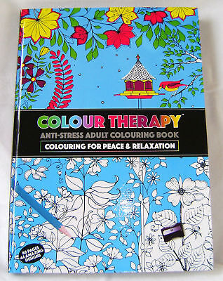 Neu Colour Therapy Anti Stress Erwachsene Färbung Hardcover Buch 44 Muster Pms ()
