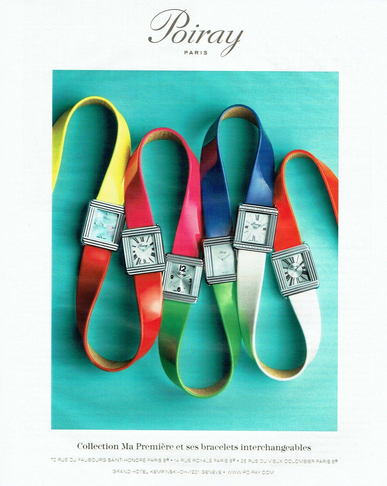 Publicité advertising 420  2014  montre poiray bracelets interchangeables premiè