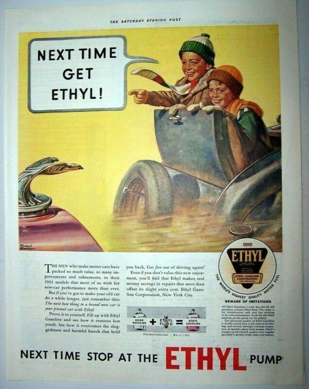 Ethyl Gasoline Next Time Get Ethyl 1933 ad