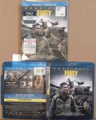 Fury US 2015 Best Buy Blu Ray With Exclusive Bonus Disc &...