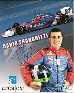 2005-DARIO-FRANCHITTI-signed-INDIANAPOLIS-500-PHOTO-CARD-POSTCARD-INDY-CAR-blue