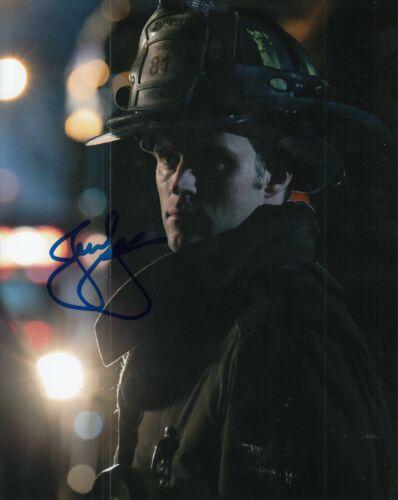 JESSE SPENCER signed (CHICAGO FIRE) TV SHOW 8X10 photo *Matthew Casey* W/COA #4