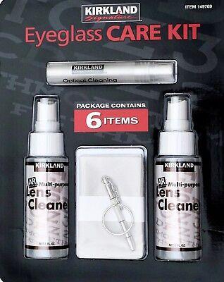 (Kirkland Eyeglass Care Lens Kit Spray Cleaner Key Chain Screw Driver Microfiber)