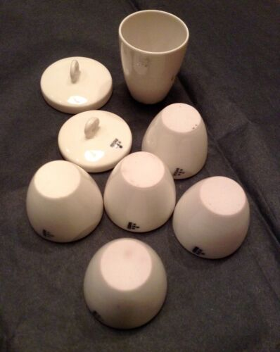 Vintage Apothecary Coors USA Pharmaceutical Chemistry Cups Porcelain Containers