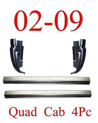 02 09 Dodge 4Pc Quad Cab Rocker & Cab Corner Set, 4Door, Ram Truck, Club Cab
