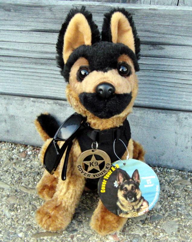 German Shepherd Plush Police Dog with K9 Badge & Cool Shades -  K9 Fundraiser