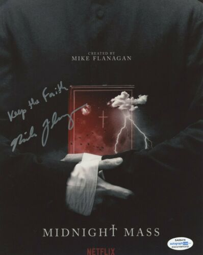Mike Flanagan Midnight Mass Autographed Signed 8x10 Photo ACOA
