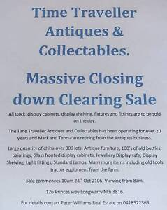 Antique shop Closure! Genuine UNRESERVED Auction! Longwarry Baw Baw Area Preview