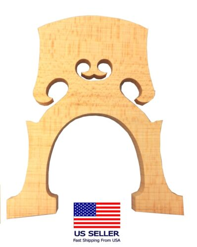 New High Quality Cello Bridge, Full Size 4/4, generic solid Maple