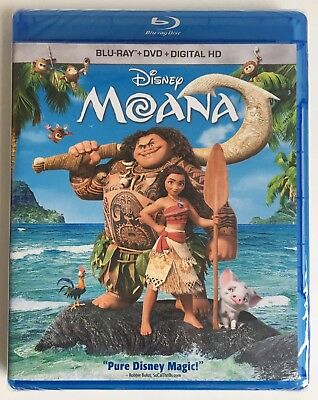Moana   Blu Ray   Dvd   Digital Hd  New  Factory Sealed