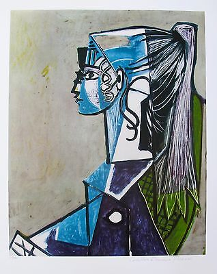 "Pablo Picasso ""PORTRAIT OF SYLVETTE"" Estate Signed Limited Edition Giclee Art"