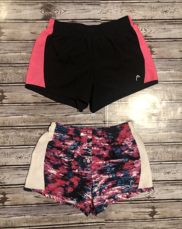 Lot of 2 Girls Athletic Lined Shorts Size Small
