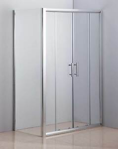 ON SALE - 1200 X 700 Sliding Door Safety Glass Shower Screen By D Silverwater Auburn Area Preview