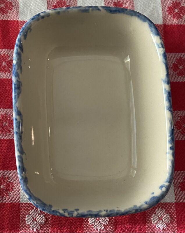 Vintage Workshops of Gerald E. HENN Pottery Blue Spongeware Treat Dish