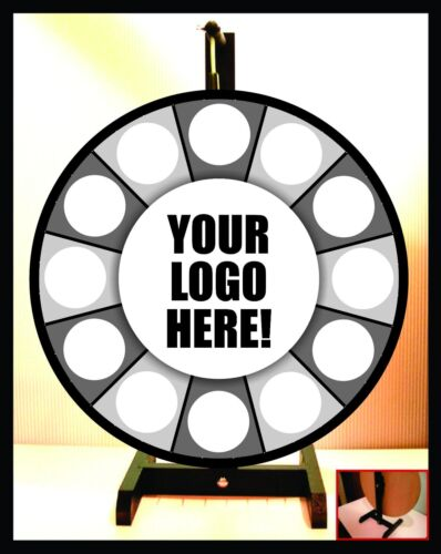 """Prize Wheel 24"""" Spinning Portable Tabletop-Customized Logo"""