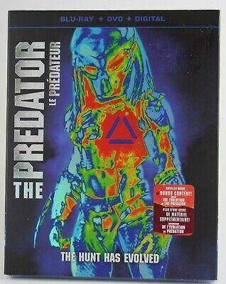 THE PREDATOR (2018) Blu-ray + DVD + Digital Copy Slipcover BRAND NEW Canadian