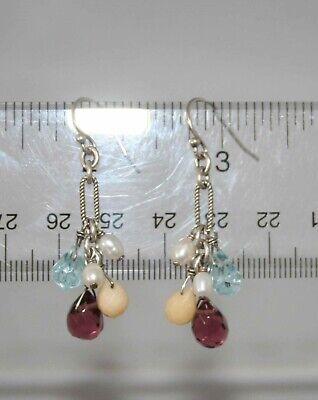Silpada Sterling Silver Freshwater Pearl & Glass Bead Earrings W1246
