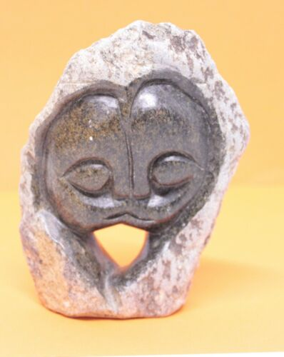 Abstract LOVERS  carving  Brown serpentine stone Shona Zimbabwe Art #1