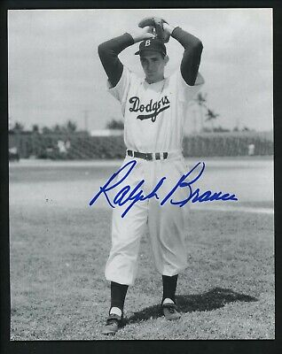 Ralph Branca Signed Autographed 8 x 10 Photo vertical pose Brooklyn Dodgers Brooklyn Signed 8x10 Photo