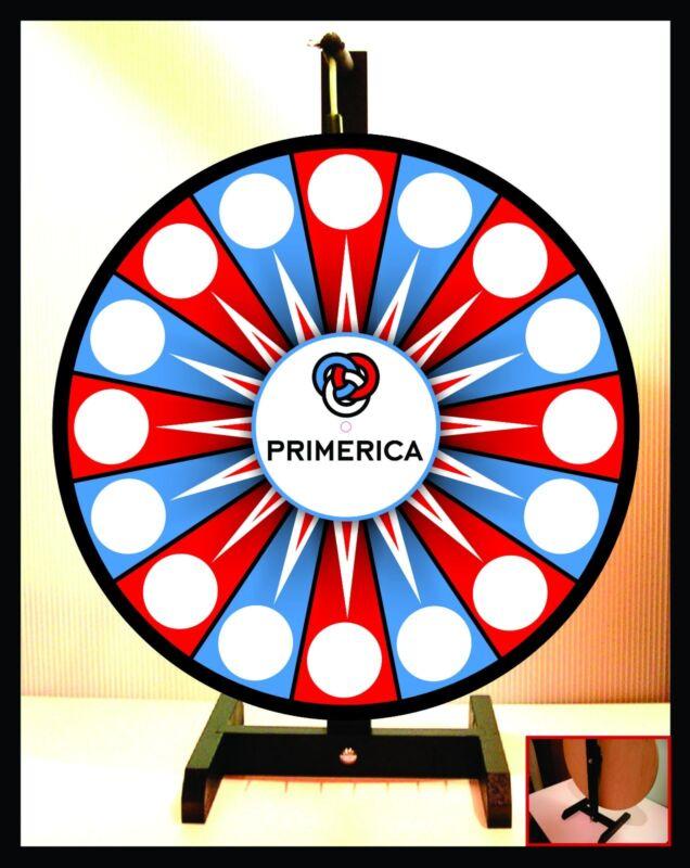 "Prize Wheel 18"" Spinning Tabletop Portable Primerica"