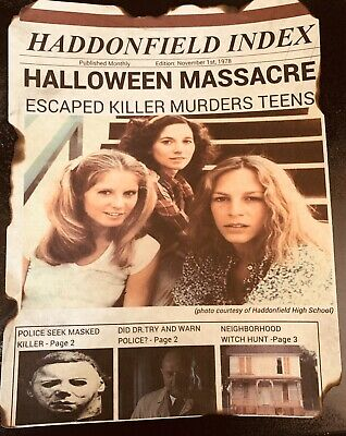 Halloween Movie Memorabilia (Halloween Michael Myers 1978 Movie Print)