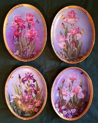 """A Rainbow of Irises"" Plate Lot"