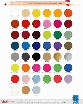 Siser Easyweed Heat Transfer Vinyl Material 15 X 1 Yards - 38 Color Choices