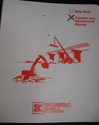 Koehring Bantam Lcd 150 Rough Terrain Crane Operator And Maintenance Manual