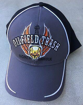 Oilfield Trash North Dakota Baseball Cap Hat Drill Bit Rig Oil Well - New