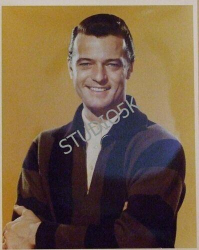 full color high gloss still of iconic crooner ROBERT GOULET
