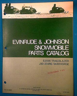 Evinrude Johnson Snowmobile Parts Catalog Manual TrailBlazer SkeeHorse 262935