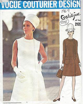 1969 Vintage VOGUE Sewing Pattern B38 DRESS (1378) By Irene Galitzine