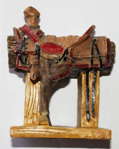 "5"" Resin Western Cowboy Saddle Figurine Statue"