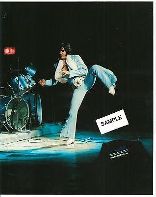 Elvis Presley: Dynamic 8 x 10 Photo Performing Karate On Stage, April 1972 Tour