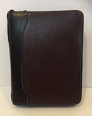 Franklin Quest Planner Agenda Organizer Verona Leather Aniline Trim Quality