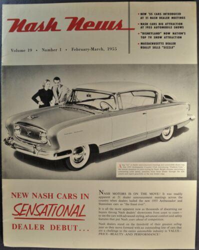 1955 Nash News Dealer Newsletter Ambassador Country Club Excellent Original 55