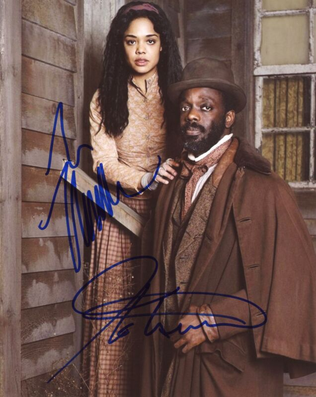 "Ato Essandoh & Tessa Thompson ""Copper"" AUTOGRAPHS Signed 8x10 Photo ACOA"