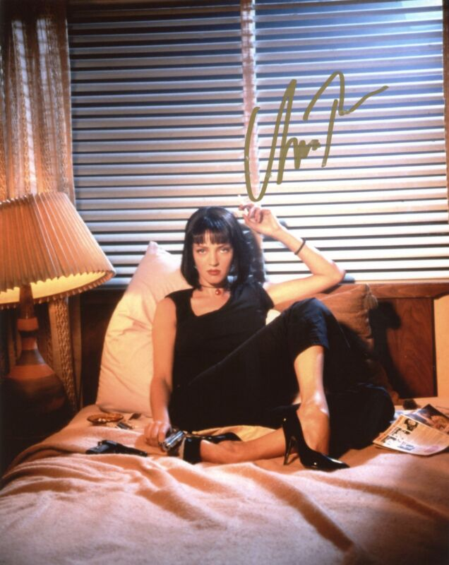 "Uma Thurman ""Pulp Fiction"" AUTOGRAPH Signed 8x10 Photo I ACOA"