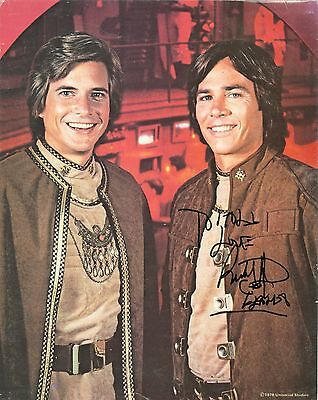 Richard Hatch Battlestar Galactica Hand Signed Autograph Photo Dirk Benedict