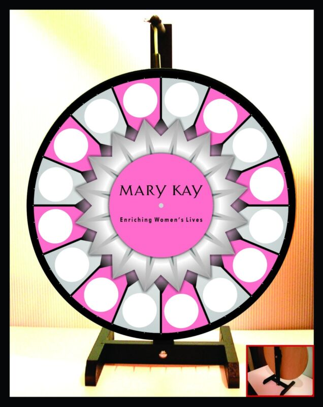 """Prize Wheel 18"""" Spinning Tabletop Portable Mary Kay Starburst Center"""