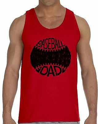Baseball Dad Tank Top Baseball Gifts for Dad Birthday Gift -