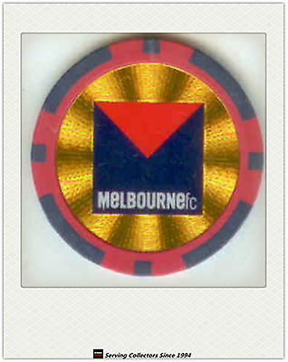 2008 Topps AFL Poker Chipz Club Logo First Issue (Stickers) Chipz Melbourne