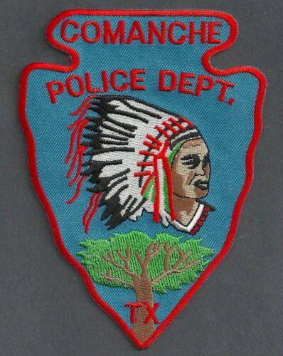 COMANCHE TEXAS POLICE SHOULDER PATCH INDIAN