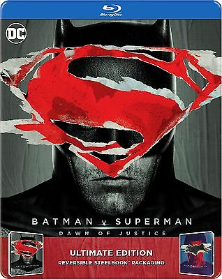 Batman V Superman  Dawn Of Justice   Ultimate Edition  Steelbook   2 Disc   New