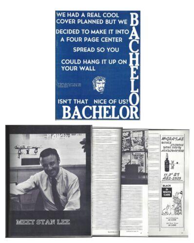 Rare 1968 Marvel Comics Stan Lee Bachelor Magazine From College  - Marvelmania!