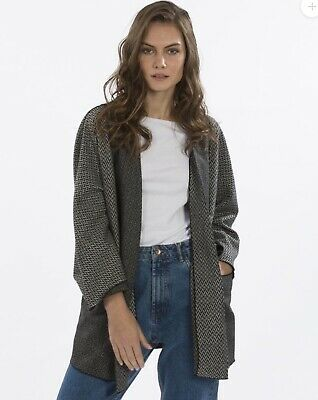 JACKET SILK AND WOOL BLEND BY JAYLEY ONE SIZE (UP TO UK 16)